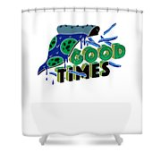 Good Old Times Pizza Fries Born In The 90s Husband Wife Shower Curtain