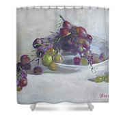 Greek Grapes Shower Curtain