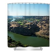 Green Snake River Shower Curtain