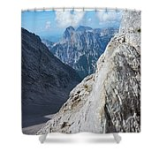 Grey Mountains Shower Curtain