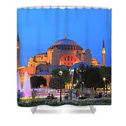 Hagia Sophia At Night Istanbul Turkey  Shower Curtain