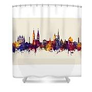 Halberstadt Germany Skyline Shower Curtain