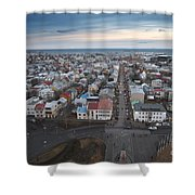 Hallgrimskirkja Shower Curtain