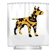 Halloween Dogg Shower Curtain