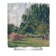 Haystacks, Morning, Eragny, 1899 Shower Curtain