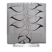 Heliconia Shower Curtain