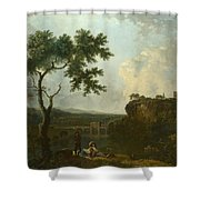 Holt Bridge On The River Dee  Shower Curtain