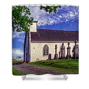 Holy Cross Cemetery And Our Lady Of Sorrows Chapel Shower Curtain