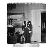 In The Photo The New President Of The Republic Urho Kekkonen Is Photographed At The Presidential Pa Shower Curtain