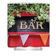 Irish Bar In Dublin Shower Curtain