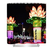 Large Lanterns In The Shape Of Lotus Flowers Shower Curtain