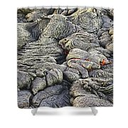 Lava Peeking At Us Shower Curtain by Jim Thompson