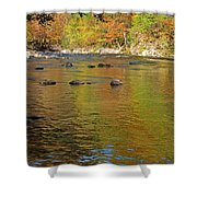 Little River In Autumn In Smoky Mountains National Park Shower Curtain