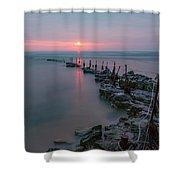 Longhoughton Beach - England Shower Curtain