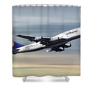 Lufthansa Boeing 747-430 Shower Curtain