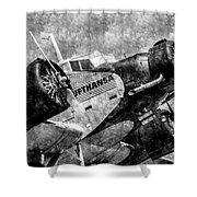 Lufthansa Junkers Ju 52 Vintage Shower Curtain
