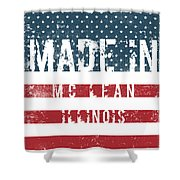 Made In Mc Lean, Illinois Shower Curtain
