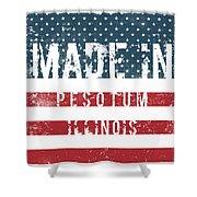Made In Pesotum, Illinois Shower Curtain