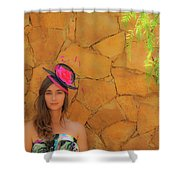 Mamin With Hat Shower Curtain