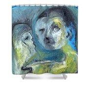 Man And Bird Shower Curtain