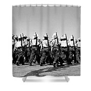 March At Airport Shower Curtain