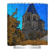 Medieval Bell Tower 6 Shower Curtain
