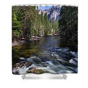 Merced River, Yosemite National Park Shower Curtain