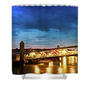 Mersey Ferry Floating Landing Stage Shower Curtain