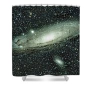 Messier 31, Andromeda Galaxy Shower Curtain