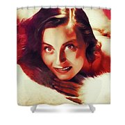 Michele Morgan, Vintage Actress Shower Curtain