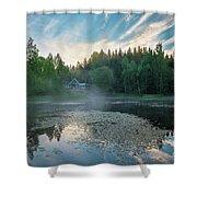 Midsummer's Morning Shower Curtain
