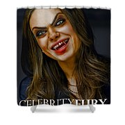 Mila Kunis Shower Curtain