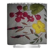 Moms Hand Embroidery Shower Curtain