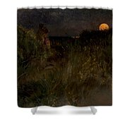 Moonrise Over The Dunes  Shower Curtain