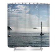 Morning Mist On Frenchman's Bay Shower Curtain