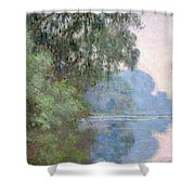 Morning On The Seine Near Giverny, 1897 Shower Curtain
