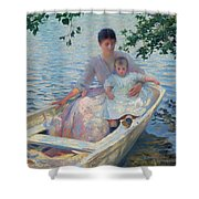 Mother And Child In A Boat Shower Curtain