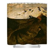 Mountains Near Innsbruck  Shower Curtain