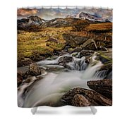 Mountains North Wales Shower Curtain
