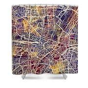 Munich Germany City Map Shower Curtain