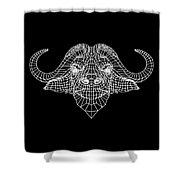 Night Buffalo Shower Curtain