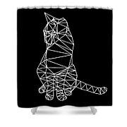 Night Cat Shower Curtain