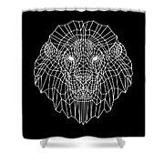 Night Lion Shower Curtain