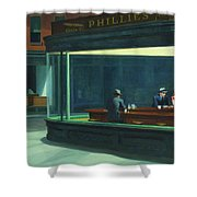 Nighthawks, 1942  Shower Curtain