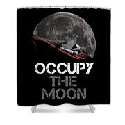 Occupy The Moon Shower Curtain