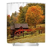 Old Crawford Farm Grist Mill Shower Curtain by Jeff Folger