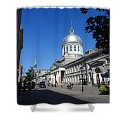 Old Montreal Market Shower Curtain