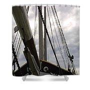 Old Viking Vessel Shower Curtain