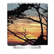 Oregon Coast Sunset Shower Curtain
