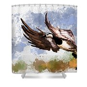Over The Marsh  Shower Curtain